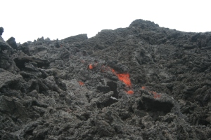 Molten Lava... My shoes melted!
