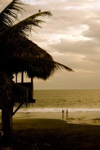 Playa El Tunco at sunset; El Salvador 2009