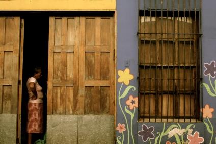 Woman and Wall - El Salvador