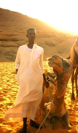 Man with Camel - Arabian Desert, Egypt