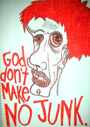 No Junk - Artwork by Erin J. Bernard