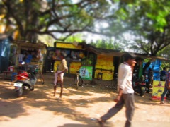 Workaday town - South India