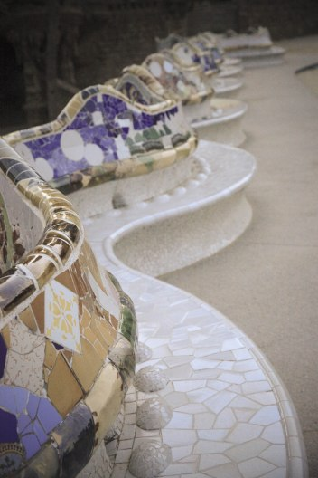 Benches at Parque Guell; Barcelona, Spain - Erin J. Bernard
