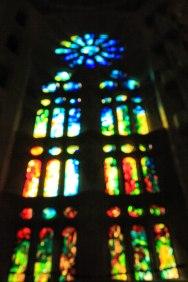 Stained Glass, Sagrada Familia; Barcelona, Spain - Erin J. Bernard