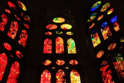 Stained Glass, Sagrada Familia; Barcelona, Spain - Erin J. Bernard