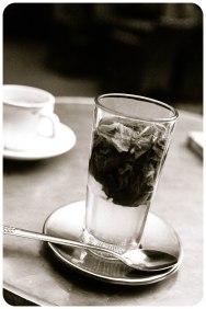 Mint tea at Cafe Tingis, Tangier - Erin J. Bernard
