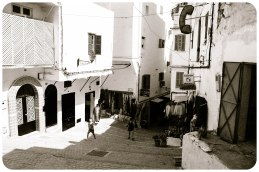 Boys playing, Kasbah, Tangier - Erin J. Bernard